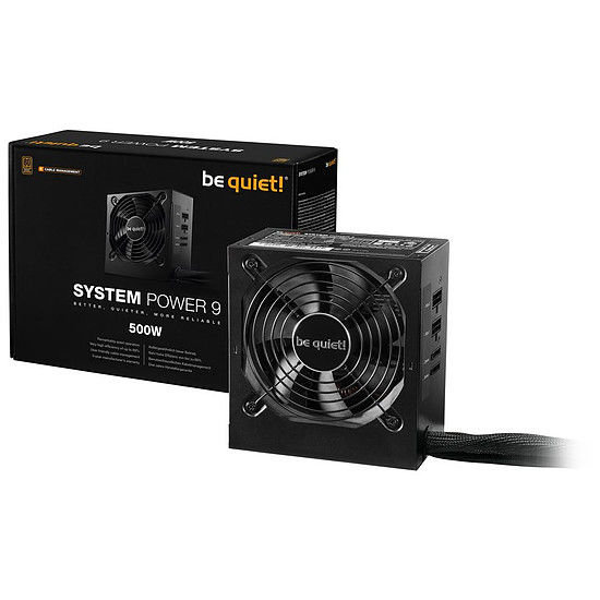 Alimentation PC Be Quiet System Power 9 500W CM - Autre vue