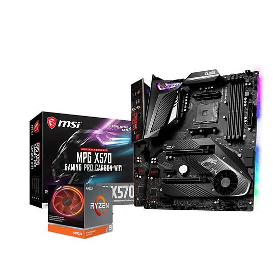 Kit upgrade PC Ryzen 9 3900X + MSI X570 GAMING PRO CARBON WIFI