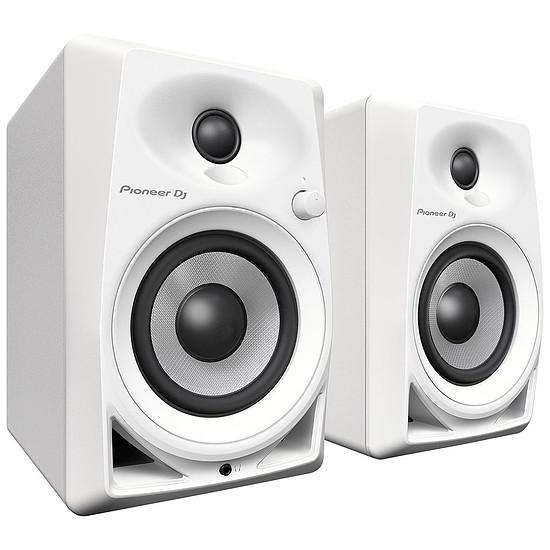 Enceintes HiFi / Home-Cinéma Pioneer DJ DM-40 (la paire) - Blanc - Autre vue
