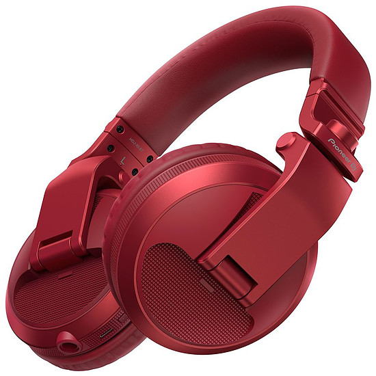 Casque Audio Pioneer DJ HDJ-X5BT Rouge - Casque sans fil