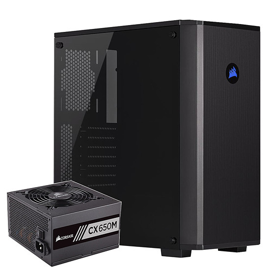 Boîtier PC Corsair Carbide 175R - Black + CX650M - 650W