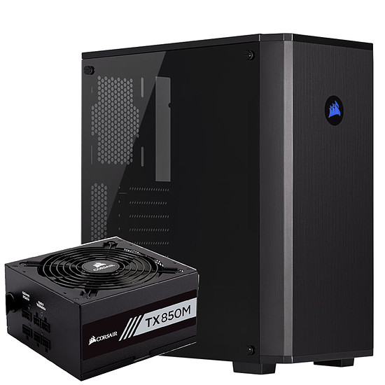 Boîtier PC Corsair Carbide 175R - Black + TX850M