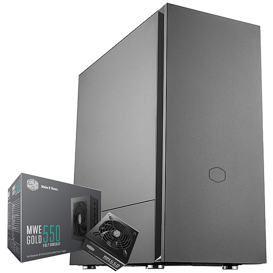 Boîtier PC Cooler Master Silencio S400 + MWE Gold 550 FM