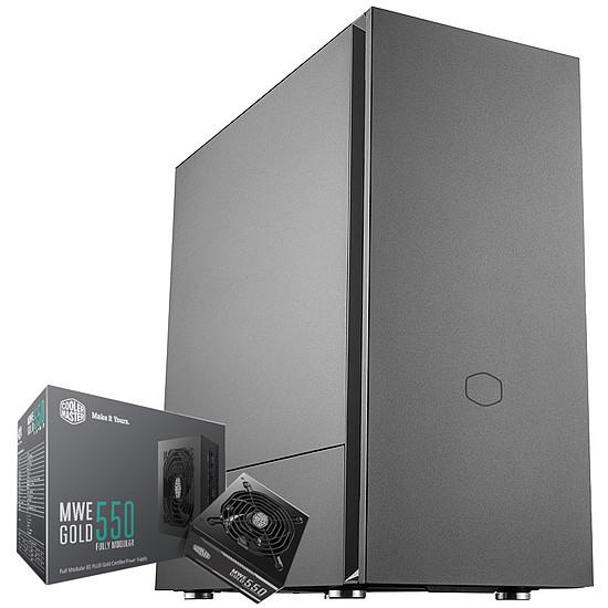 Boîtier PC Cooler Master Silencio S600 + MWE Gold 550 FM