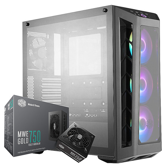 Boîtier PC Cooler Master Masterbox MB530 RGB - Noir + MWE Gold 750 FM