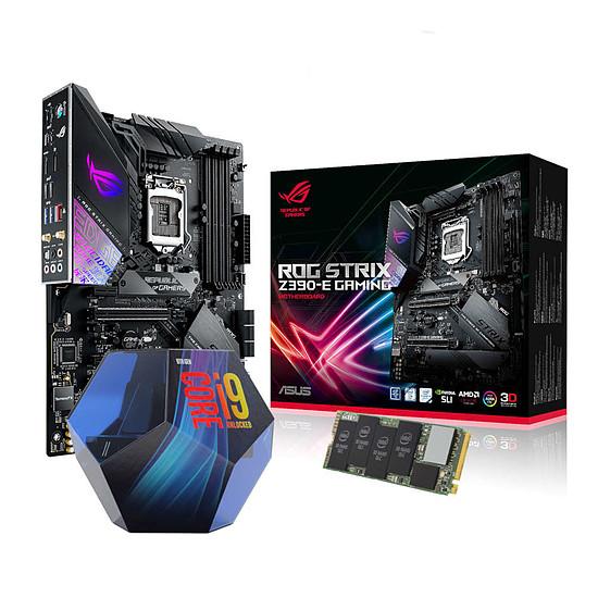 Kit upgrade PC Intel Core i9-9900K + Asus ROG STRIX Z390-E + SSD Intel 512 Go