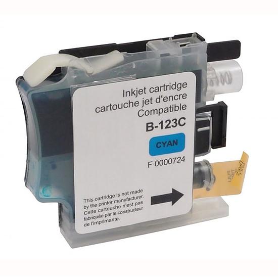 Cartouche imprimante Cartouche compatible LC121/LC123/LC127 (Cyan)