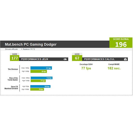 PC de bureau Materiel.net Dodger [ Win10 - PC Gamer ] - Autre vue