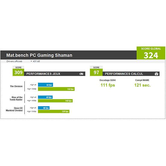 PC de bureau Materiel.net Shaman [ Win10 - PC Gamer ] - Autre vue