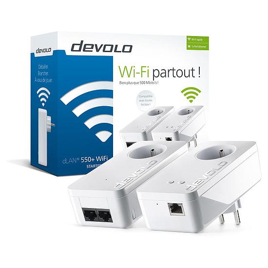 CPL Devolo dLAN 550+ WiFi CPL - Starter Kit (9835)