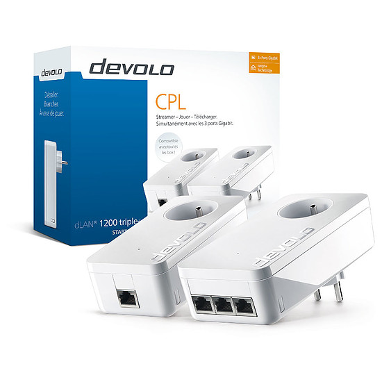 CPL Devolo dLAN 1200 triple+ CPL - Starter Kit (9908)