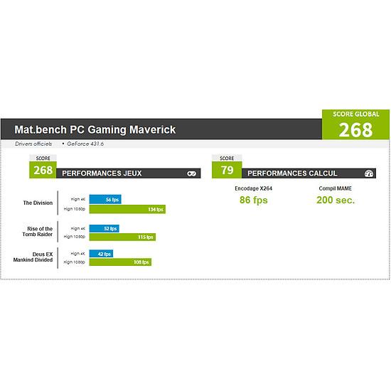 PC de bureau Materiel.net Maverick [ Win10 - PC Gamer ] - Autre vue