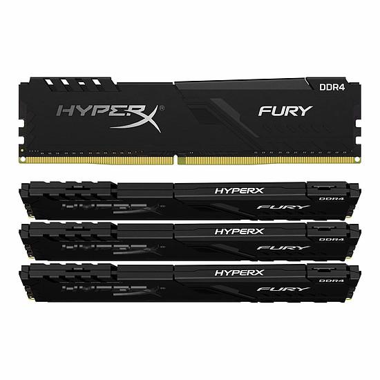 Mémoire HyperX Fury DDR4 4 x 16 Go 3200 MHz CAS 16