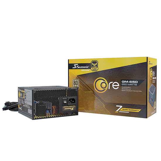Alimentation PC Seasonic Core GM-650 - Autre vue