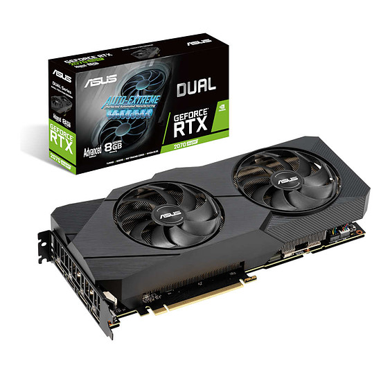 Carte graphique Asus GeForce RTX 2070 SUPER Dual A8G EVO