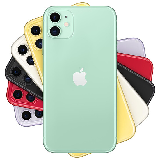 Smartphone et téléphone mobile Apple iPhone 11 (vert) - 64 Go - Autre vue