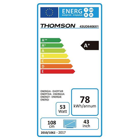 TV Thomson 43UD6406 TV LED UHD 4K HDR 108 cm - Autre vue