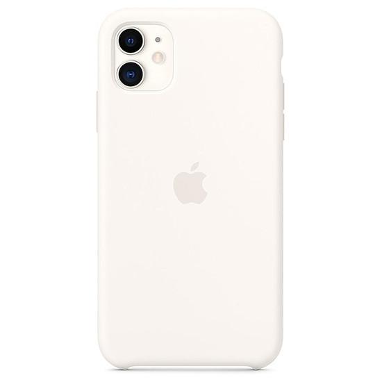 Coque et housse Apple Coque en silicone (blanc) - iPhone 11