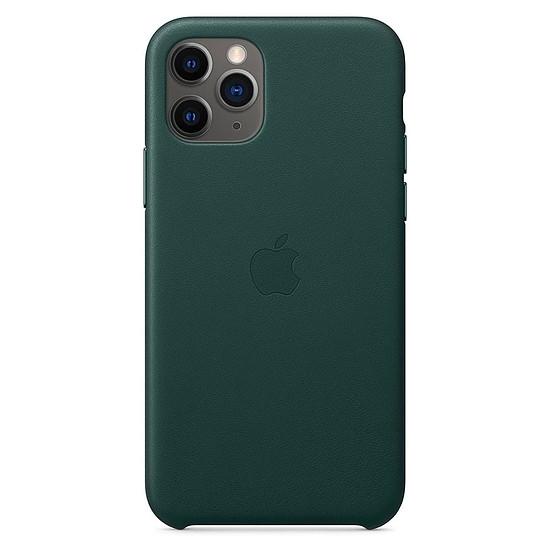 Coque et housse Apple Coque en cuir (Vert forêt) - iPhone 11 Pro