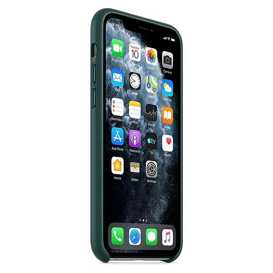 Coque et housse Apple Coque en cuir (Vert forêt) - iPhone 11 Pro - Autre vue