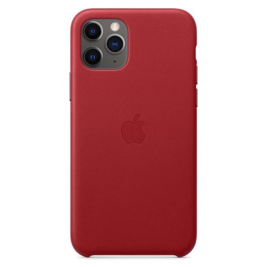 Coque et housse Apple Coque en cuir (rouge) - iPhone 11 Pro