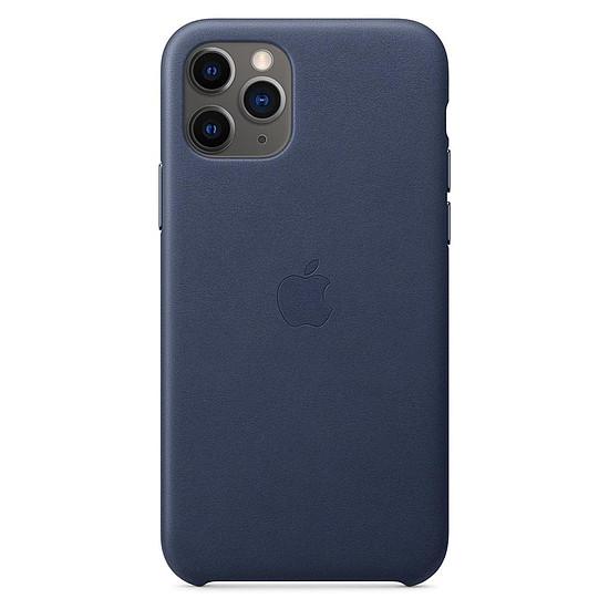 Coque et housse Apple Coque en cuir (Bleu nuit) - iPhone 11 Pro