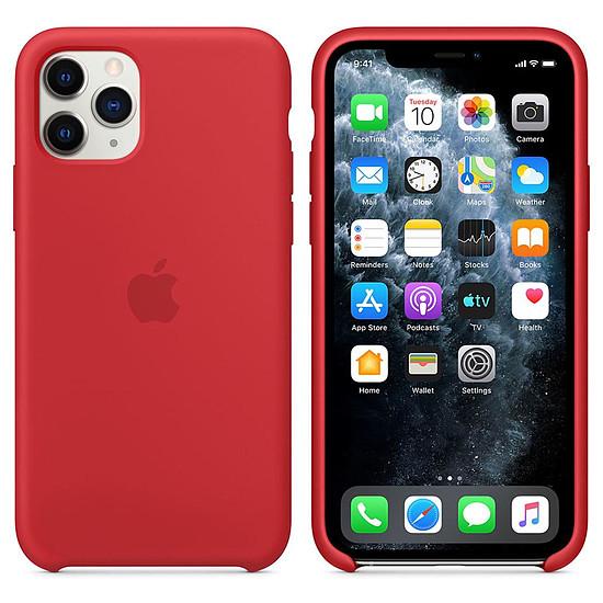 Coque et housse Apple Coque en silicone (rouge) - iPhone 11 Pro - Autre vue