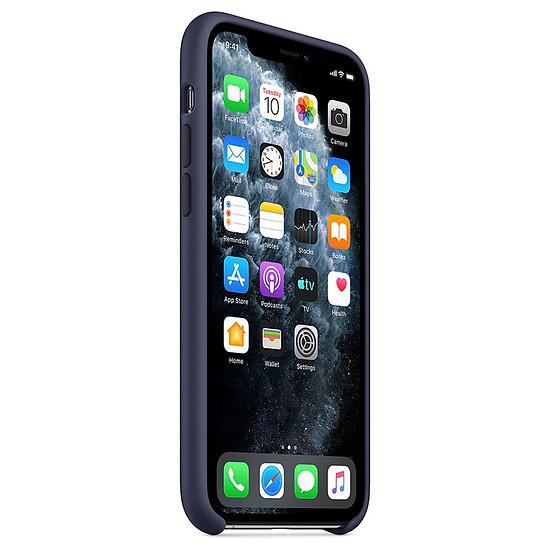 Coque et housse Apple Coque en silicone (bleu nuit) - iPhone 11 Pro - Autre vue
