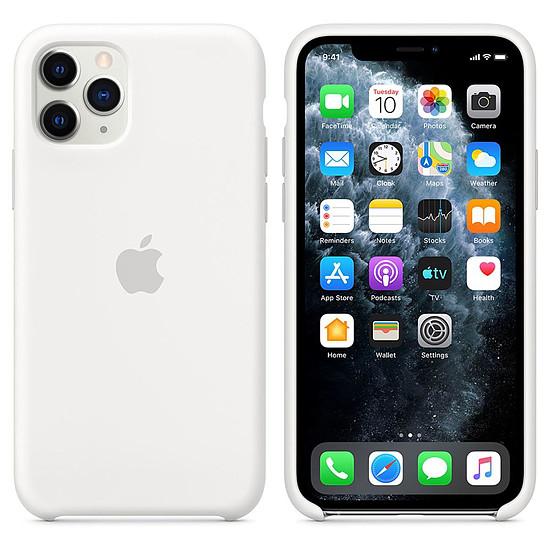 Coque et housse Apple Coque en silicone (blanc) - iPhone 11 Pro - Autre vue