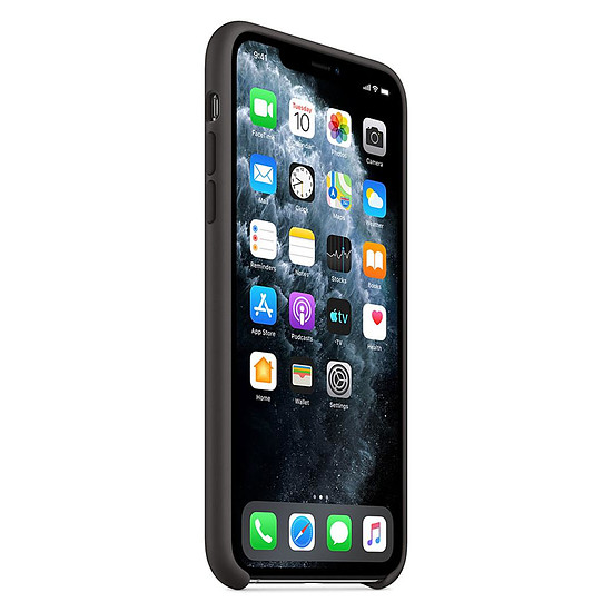 Coque et housse Apple Coque en silicone (Noir) - iPhone 11 Pro Max - Autre vue