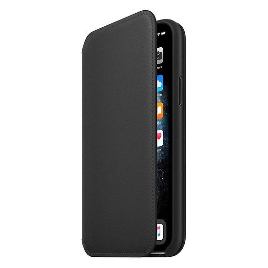 Coque et housse Apple Etui folio cuir (noir) - iPhone 11 Pro