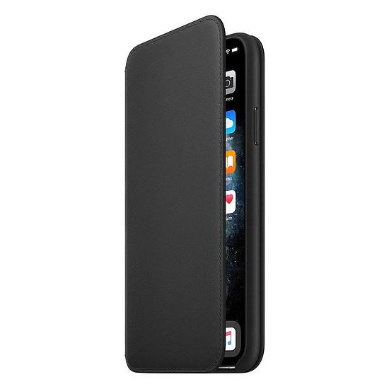 Coque et housse Apple Etui folio cuir (noir) - iPhone 11 Pro Max