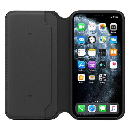 Coque et housse Apple Etui folio cuir (noir) - iPhone 11 Pro Max - Autre vue