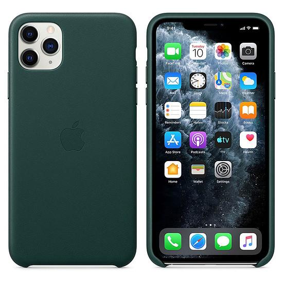 Coque et housse Apple Coque en cuir (Vert Forêt) - iPhone 11 Pro Max - Autre vue