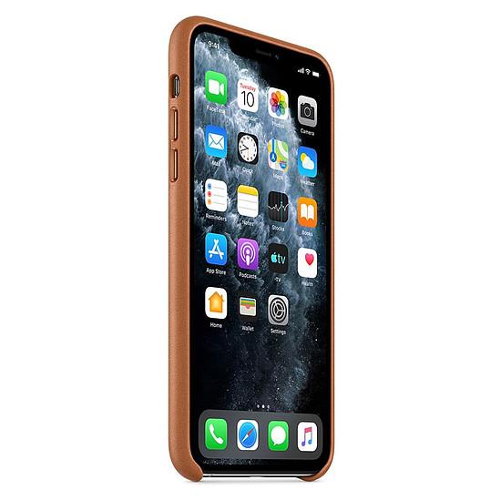Coque et housse Apple Coque en cuir (Havane) - iPhone 11 Pro Max - Autre vue