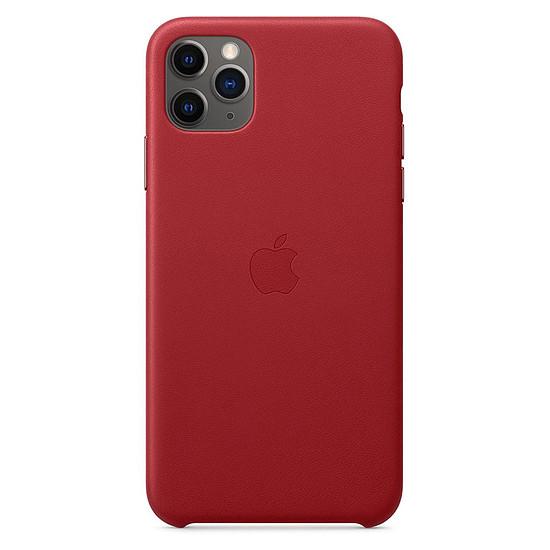 Coque et housse Apple Coque en cuir (Rouge) - iPhone 11 Pro Max