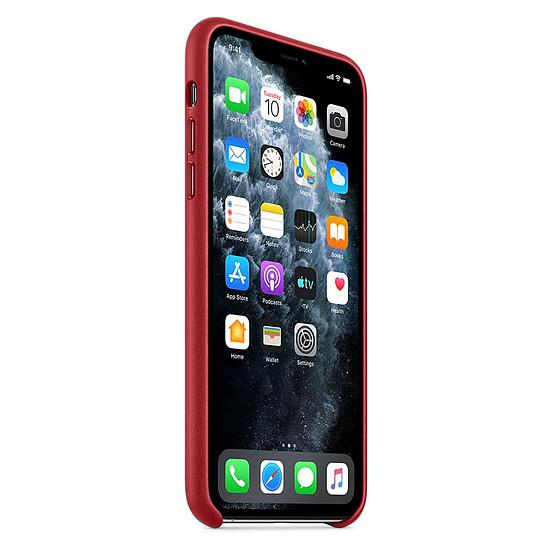 Coque et housse Apple Coque en cuir (Rouge) - iPhone 11 Pro Max - Autre vue
