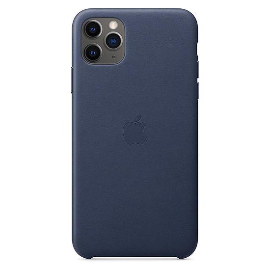 Coque et housse Apple Coque en cuir (Bleu Nuit) - iPhone 11 Pro Max