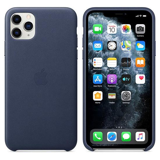 Coque et housse Apple Coque en cuir (Bleu Nuit) - iPhone 11 Pro Max - Autre vue