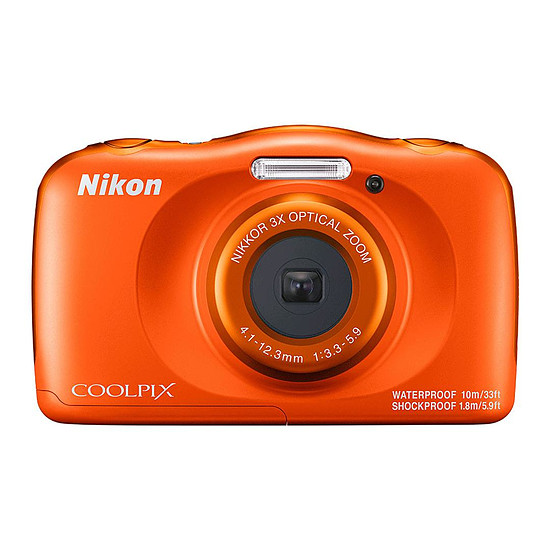 Appareil photo compact ou bridge Nikon Coolpix W150 Orange + Sac à dos - Autre vue