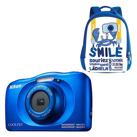 Appareil photo compact ou bridge Nikon Coolpix W150 Bleu + Sac à dos