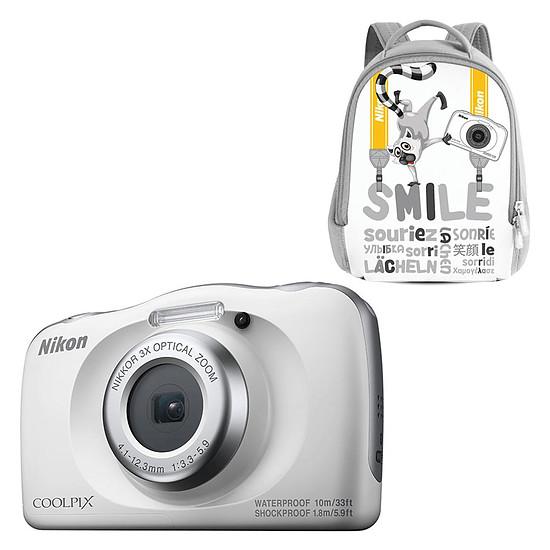 Appareil photo compact ou bridge Nikon Coolpix W150 Blanc+ Sac à dos