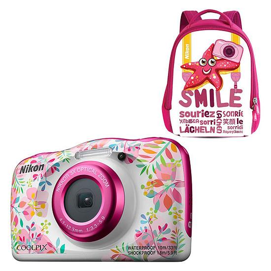 Appareil photo compact ou bridge Nikon Coolpix W150 Fleur + Sac à dos