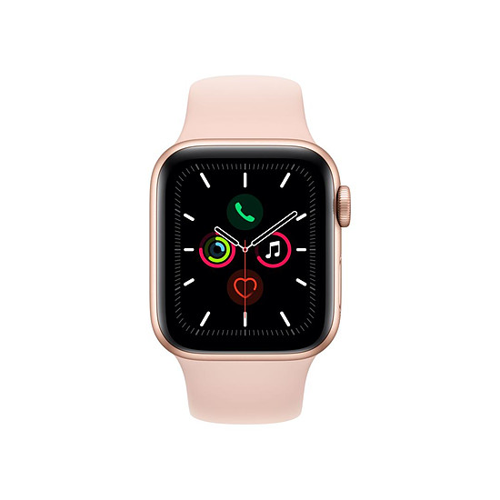 Montre connectée Apple Watch Series 5 Aluminium (Or - Bracelet Rose des Sables) - GPS - 40 mm - Autre vue