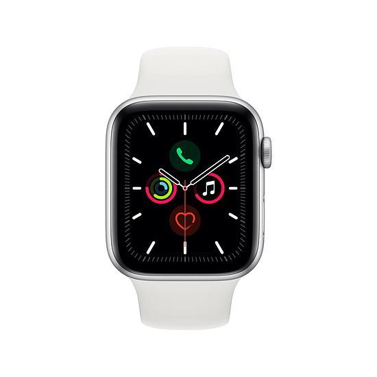 Montre connectée Apple Watch Series 5 Aluminium (Argent - Bracelet Sport Blanc) - GPS - 44 mm - Autre vue
