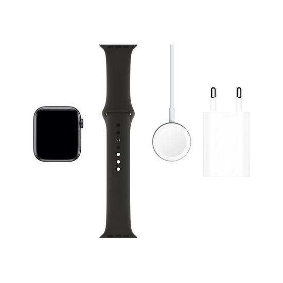 Montre connectée Apple Watch Series 5 Aluminium (Gris - Bracelet Sport Noir) - GPS - 44 mm - Autre vue