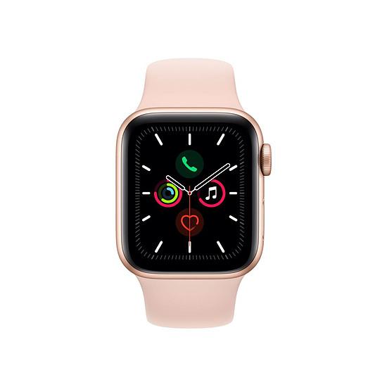 Montre connectée Apple Watch Series 5 Aluminium (Or- Bracelet Sport Rose des Sables) - Cellular - 40 mm - Autre vue