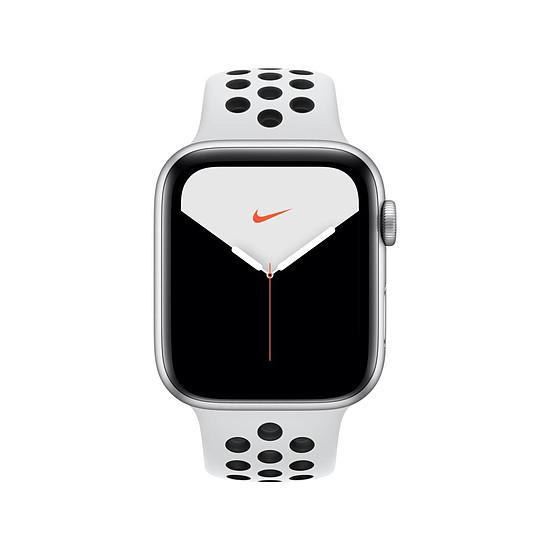 Montre connectée Apple Watch Nike Series 5 Aluminium (Argent- Bracelet Sport Platine Pur/Noir) - GPS - 44 mm - Autre vue