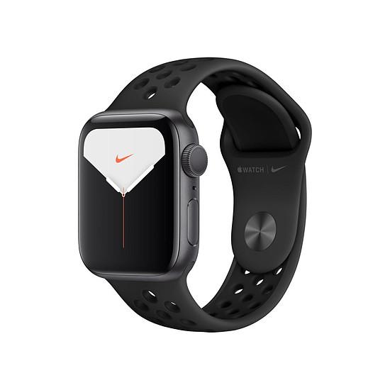 Montre connectée Apple Watch Nike Series 5 Aluminium (Gris- Bracelet Sport Noir) - GPS - 40 mm