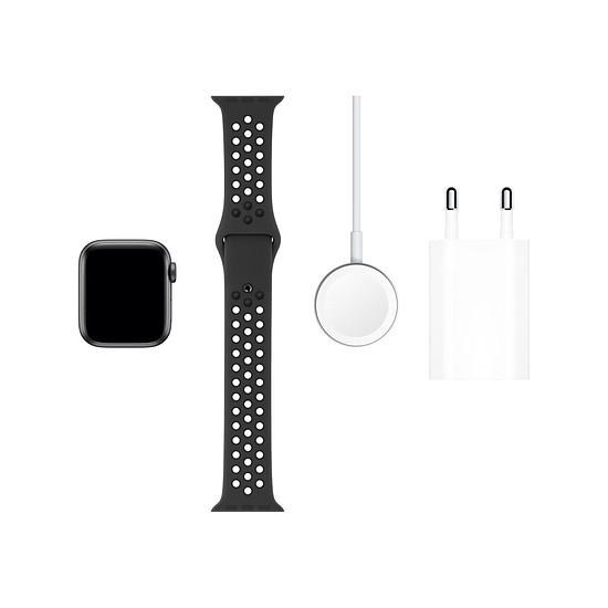 Montre connectée Apple Watch Nike Series 5 Aluminium (Gris- Bracelet Sport Noir) - GPS - 40 mm - Autre vue